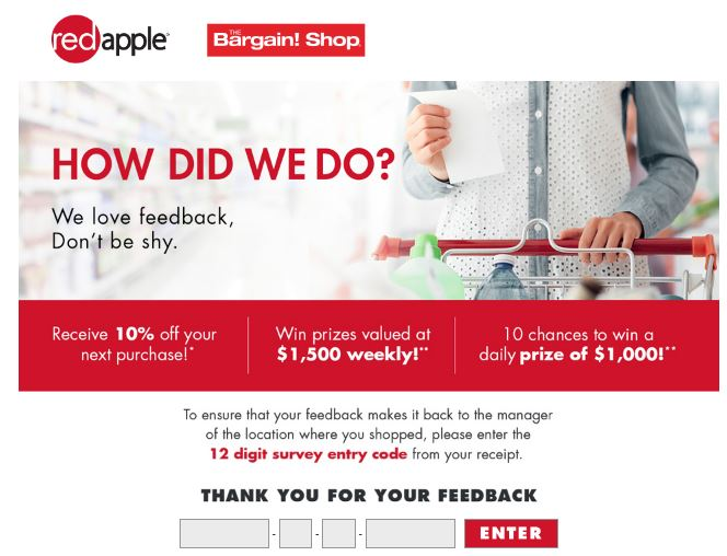 Bargain! Shop  Survey