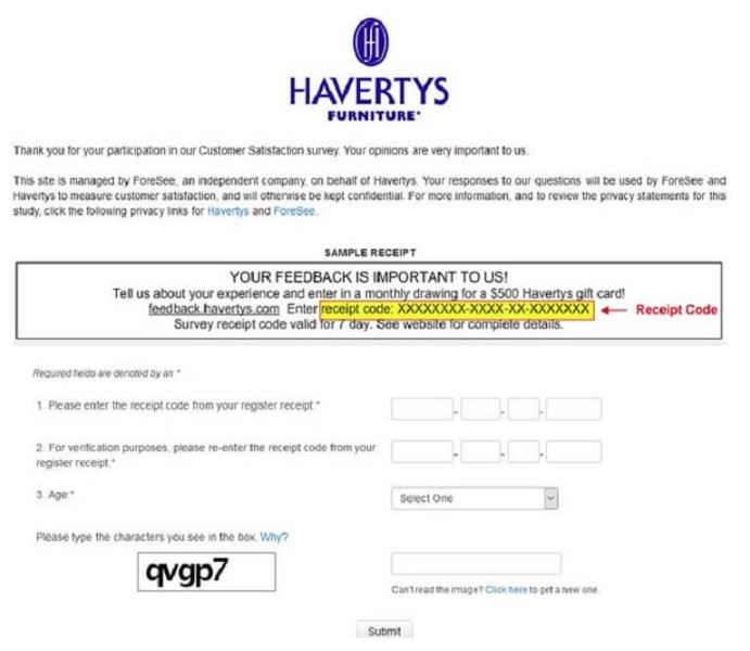 Havertys Survey