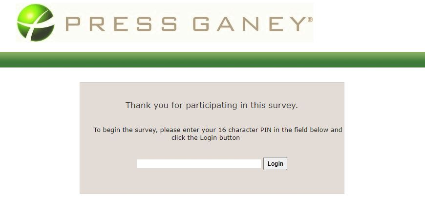 Press Ganey Survey